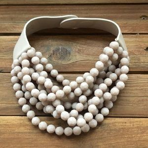 Fairchild Baldwin Matte nude necklace